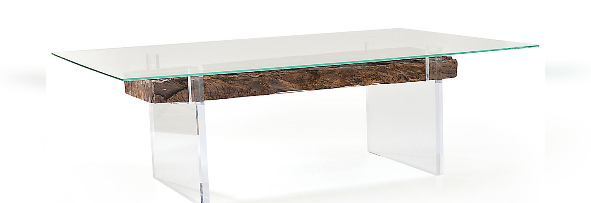 Oitis acrylic dining table glass top