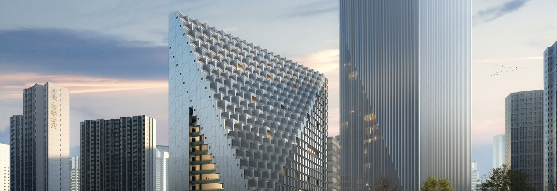 OMA breaks ground on xinhu hangzhou prism in city's future central business district
