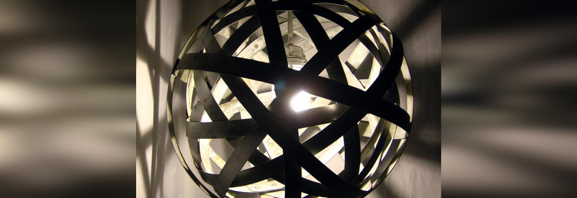 Orbits urban chandelier recycled wine barrel metal hoops orbits urban chandelier recycled wine barrel metal hoops galvanized steel bands ceiling arubaitofo Images