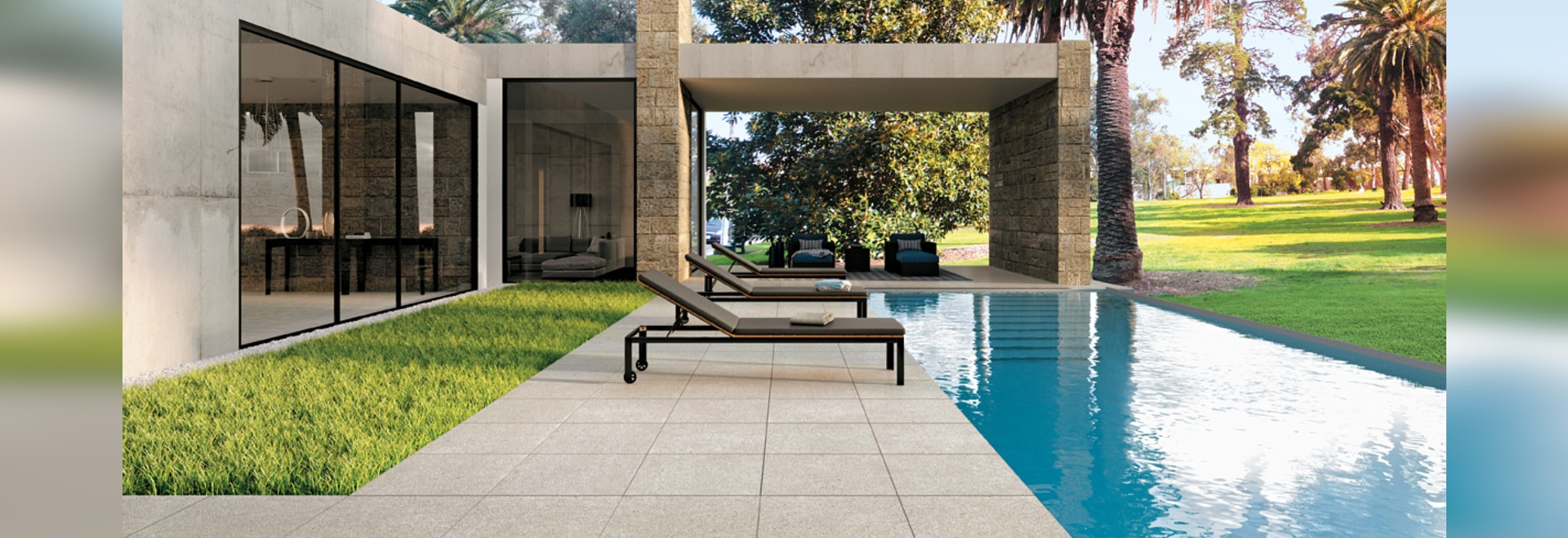 OTTO – Minimalist Effect tiles for outdoor floors
