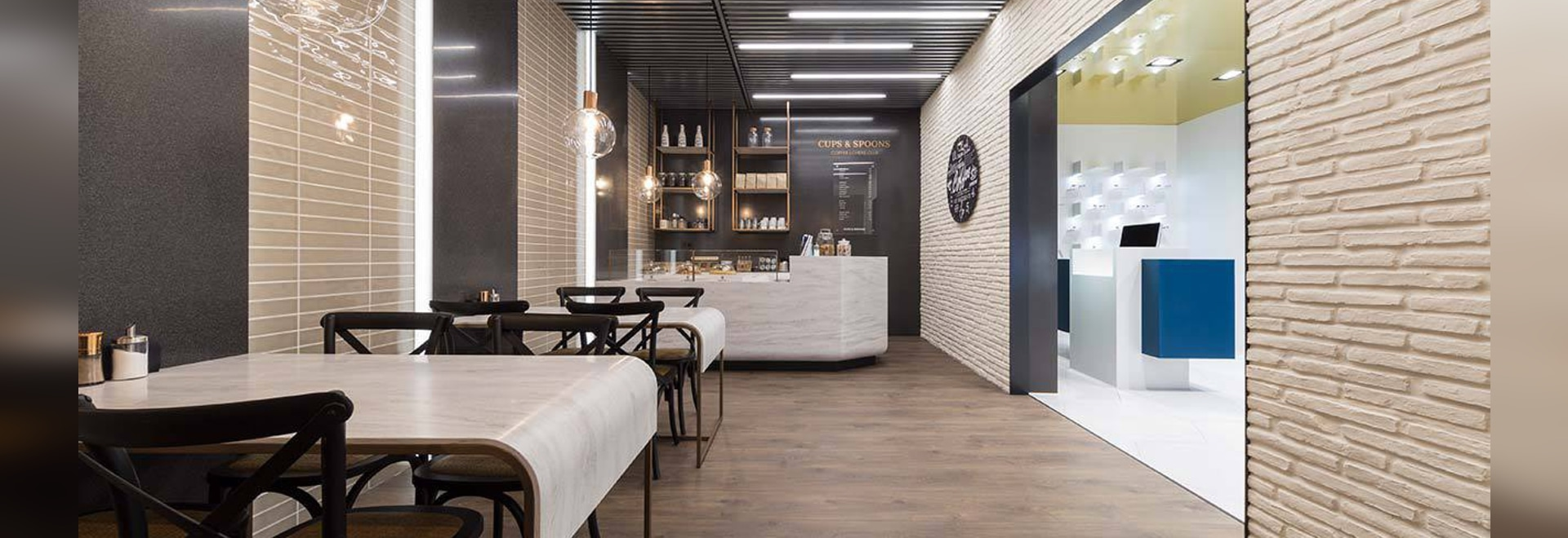 PORCELANOSA Group 25th International Exhibition - KRION SHOWROOM / Fast Food – Electronics