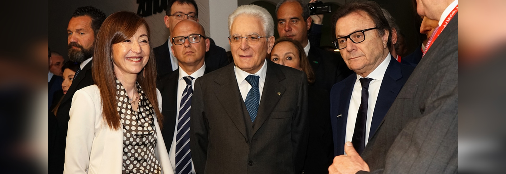 The President of the Italian Republic Sergio Mattarella visits Zanotta's stand
