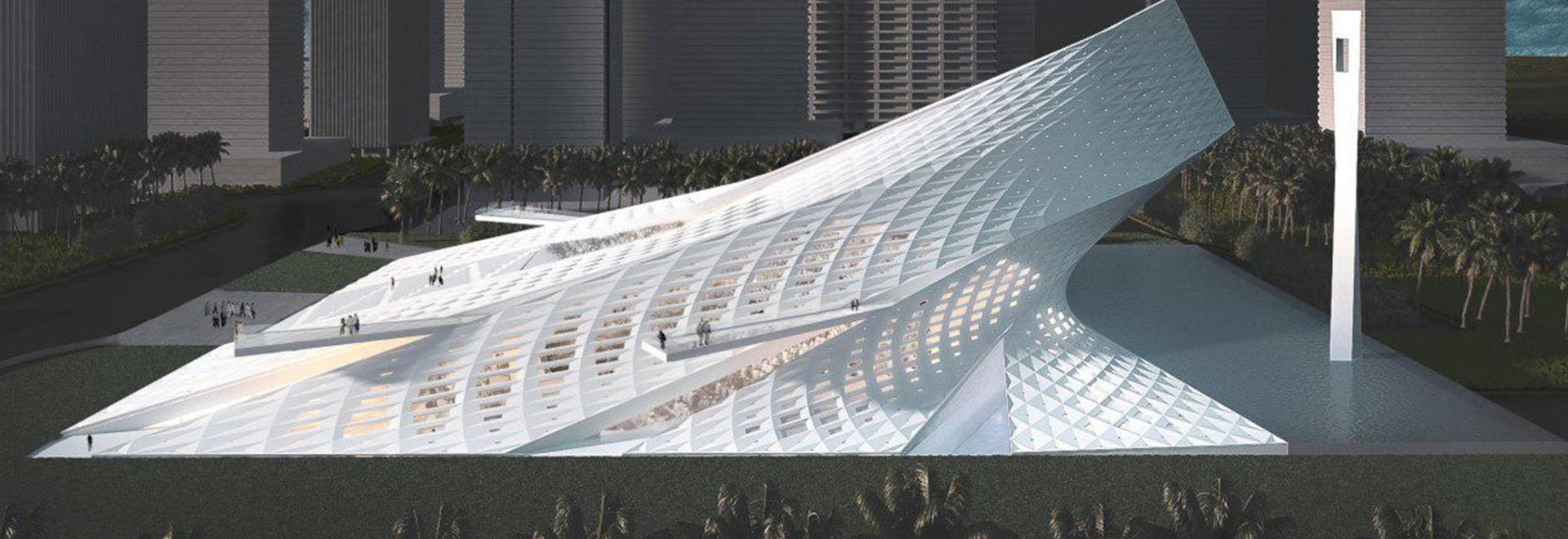 QASTIC draws on the spiritual nature of light for dubai creek harbor mosque proposal