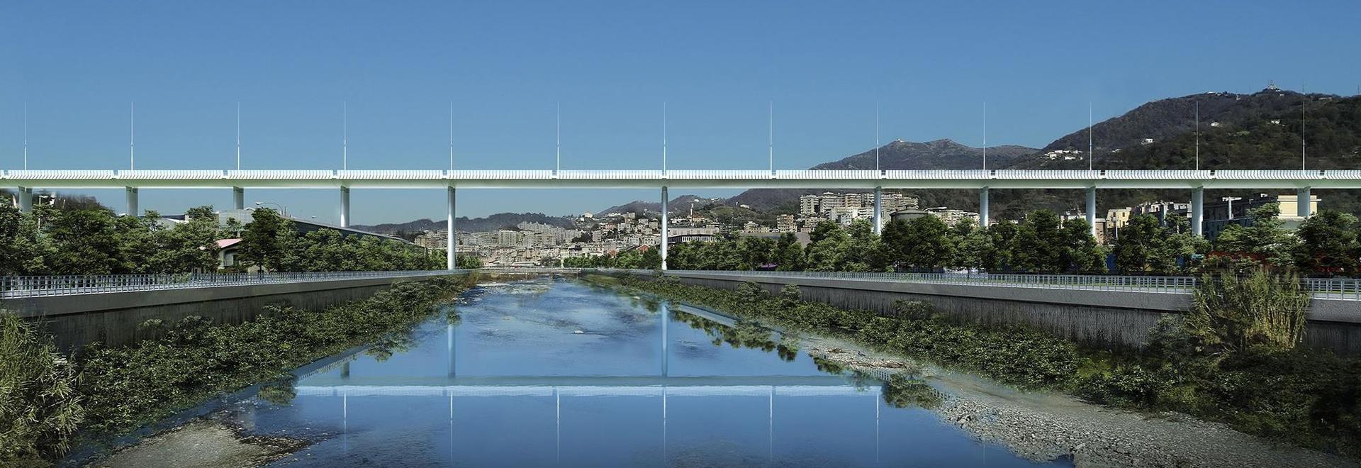 Renzo Piano unveils design for new Genoa bridge following disaster