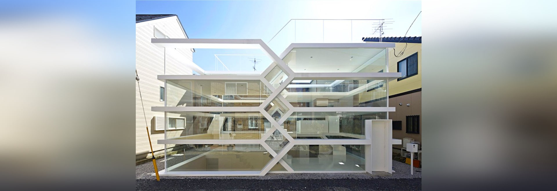 See Through Glass S House Is A See Through Glass Home With An Mc Escher Like