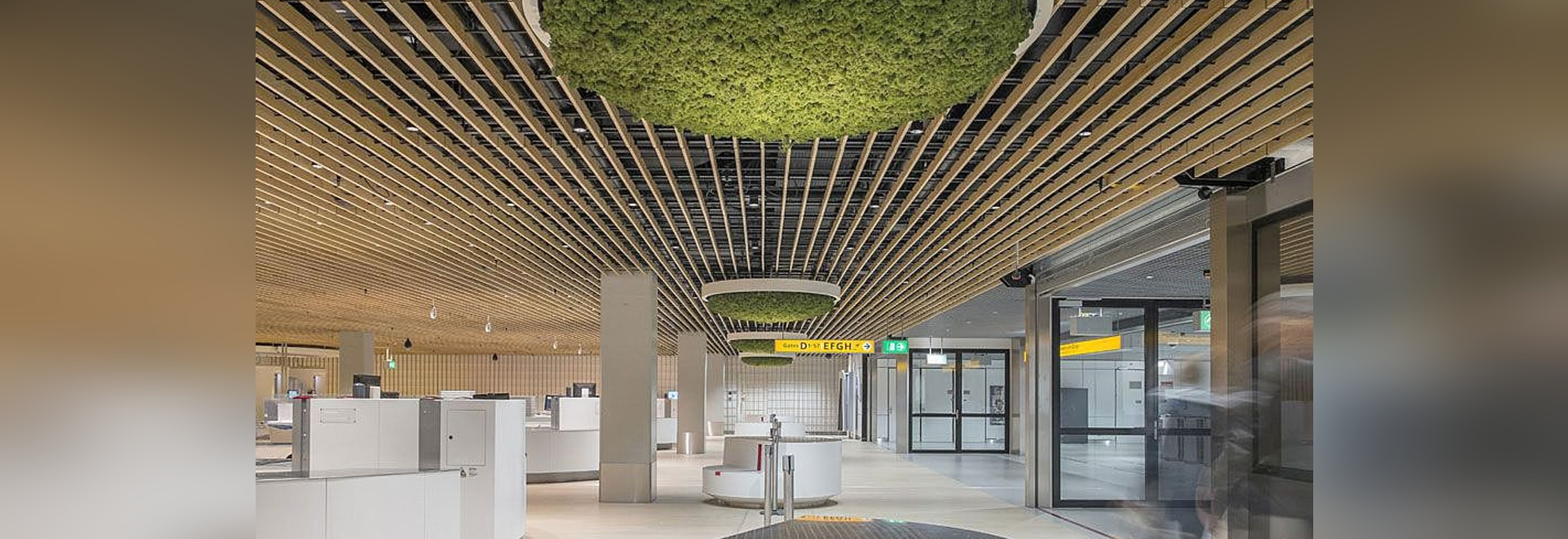 Schiphol Airport – project with a calming look