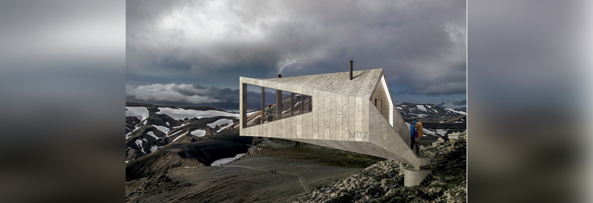 school studio plans trekking cabins for iceland's remote highlands