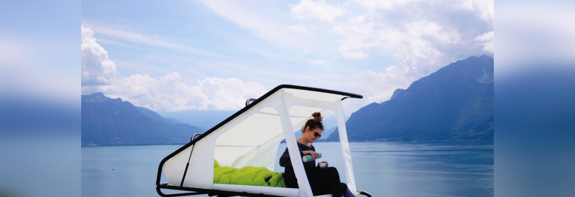 Sebastian Maluska's pop-up rooftop tent converts any car into a camper