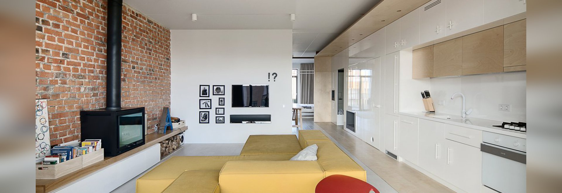 A Simple Modern Home With A Lot Of Personality Is Perfect For A Fun
