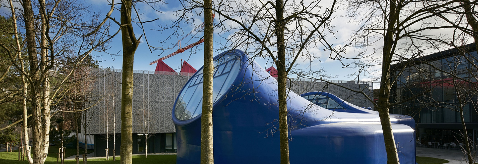 Sir Peter Cook and his office CRAB (Cook Robotham Architectural Bureau) have just completed the drawing studio at the Arts University Bournemouth - the first of its kind to be built in the UK in 10...