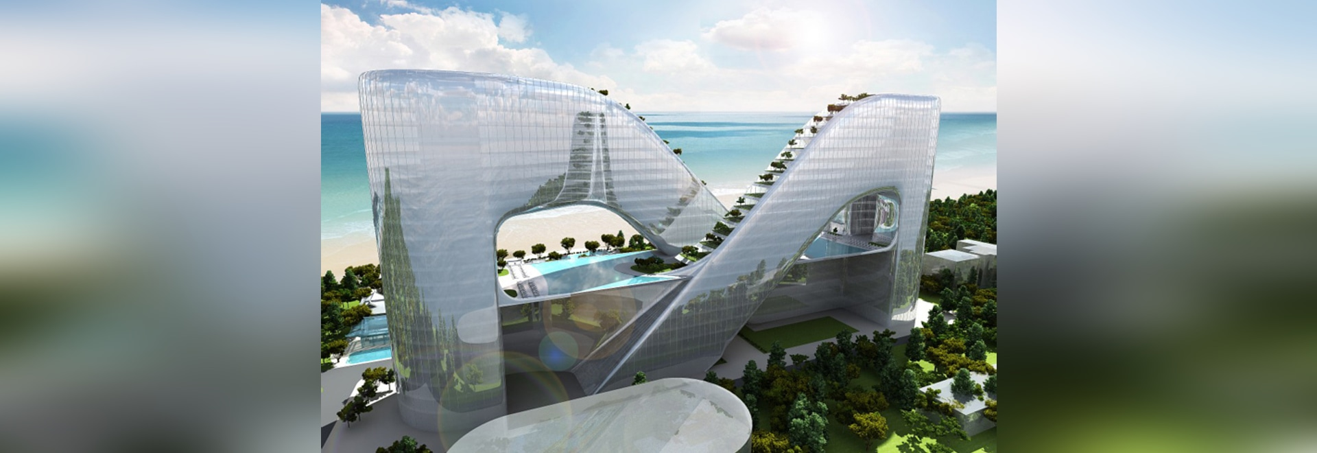 sky garden lined hotel in pyeongchang is a sustainable retreat for