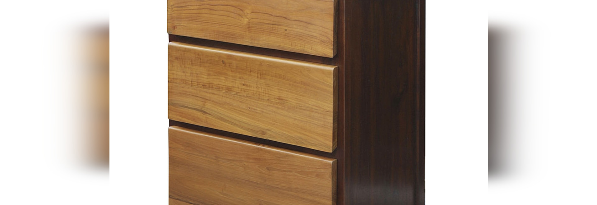 SOLID TEAK CHEST OF DRAWERS