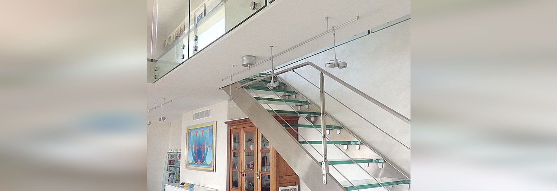 Stainless Steel And Glass Staircase And Glass Railing Glassy