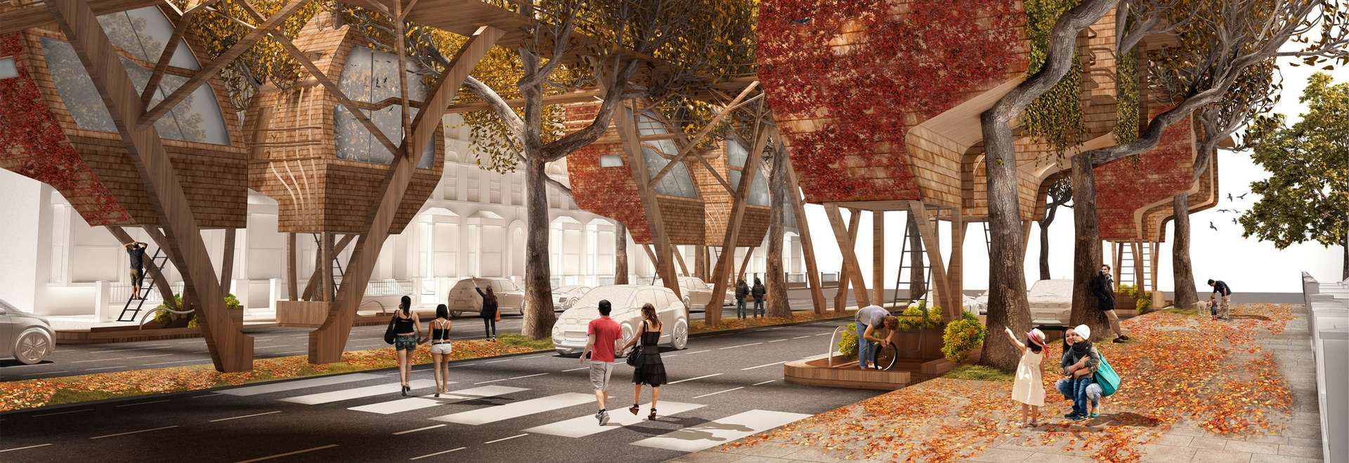 Street Tree Pods: A Creative Proposal to Add More Housing to London