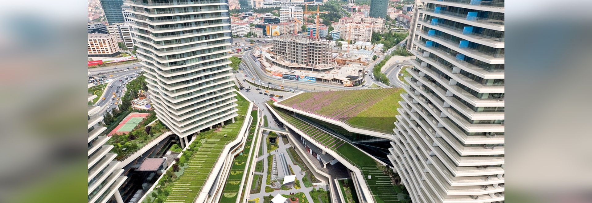 """The system build-up """"Urban Climate Roof"""" provides for increased cooling of the ambient temperature particularly in urban centres"""