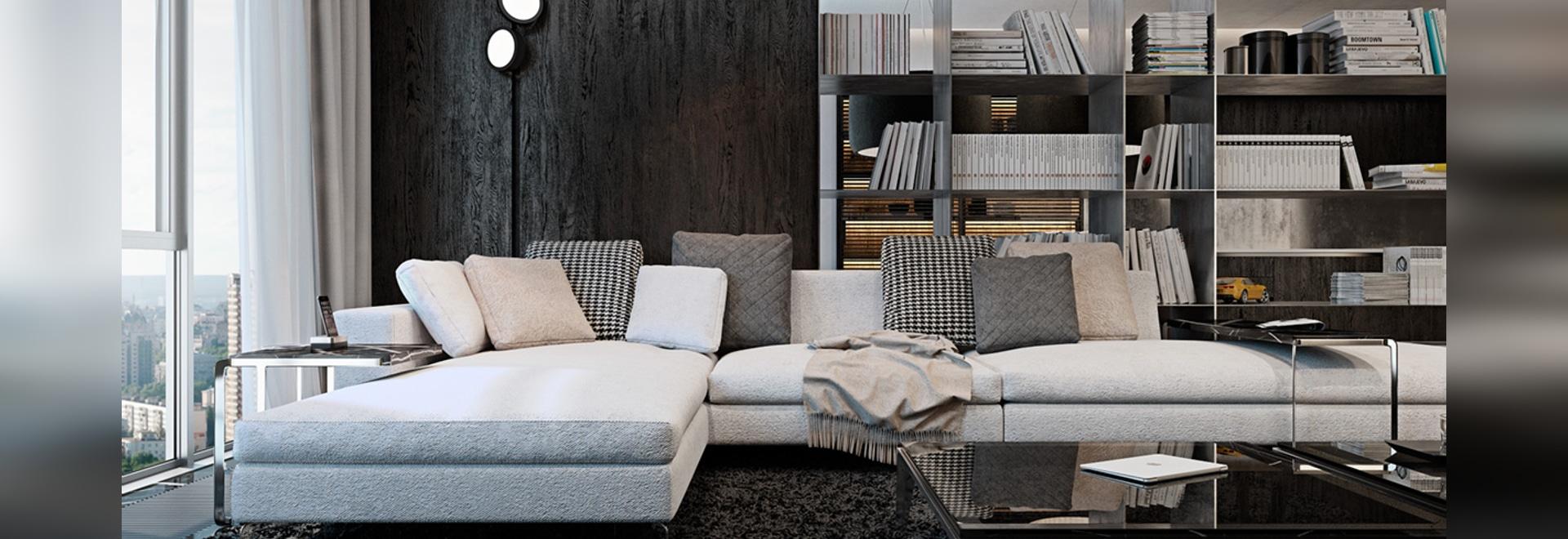 Three Luxurious Apartments With Dark Modern Interiors - Kiev, Ukraine