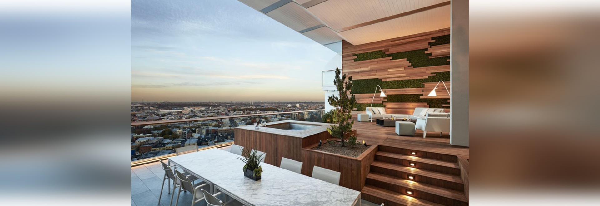 This Balcony With Views Of Brooklyn Was Designed For Outdoor Entertaining