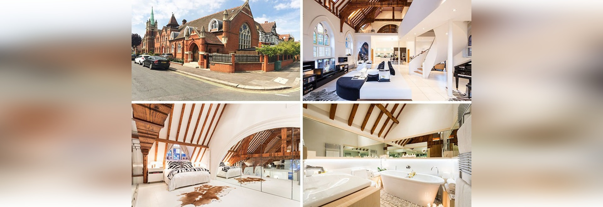 This old church was converted into a bright and contemporary house