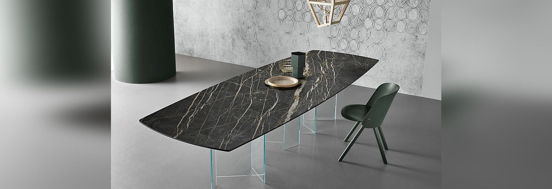 TONELLI DESIGN Table Metropolis Cava, Noir Desir