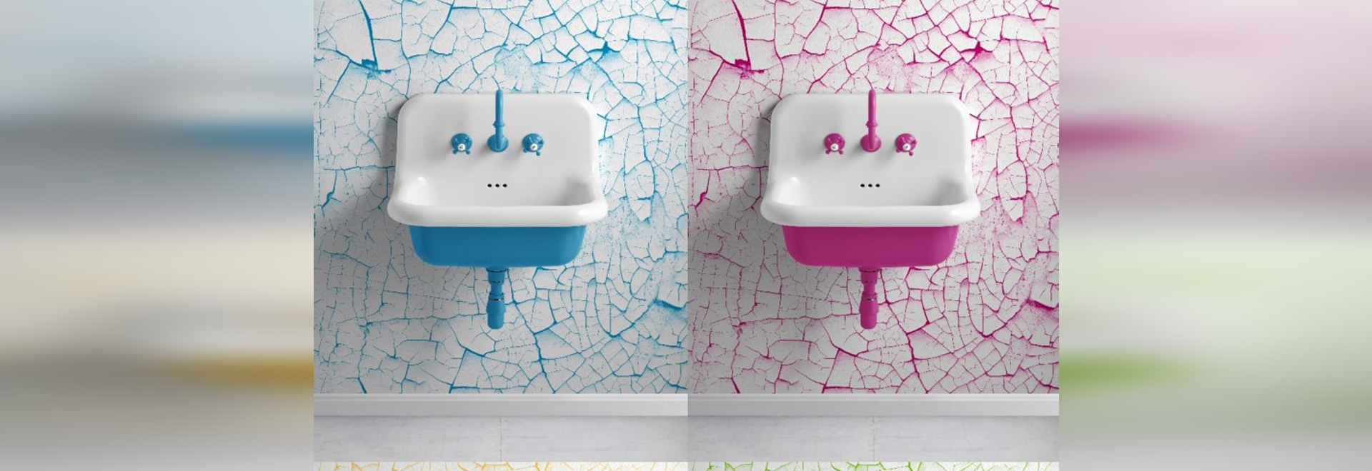 TrueColors 60cm basins by Bleu Provence