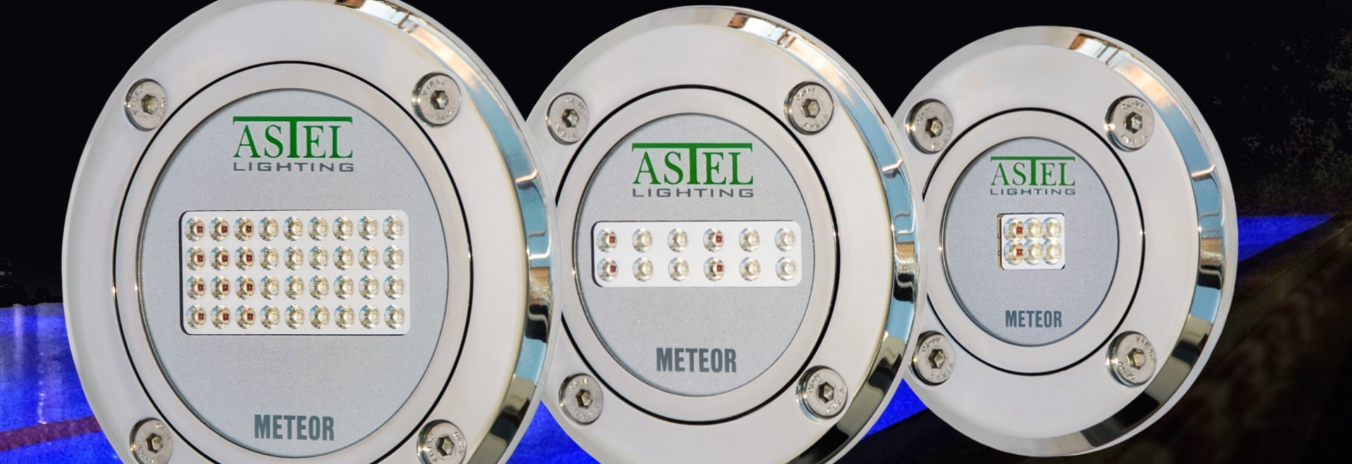 The Underwater Pool LED Light METEOR by Astel Lighting