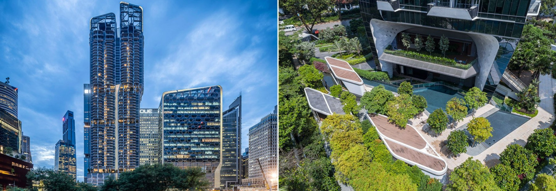 UNStudio completes both 'V on shenton' and 'the scotts tower' in singapore