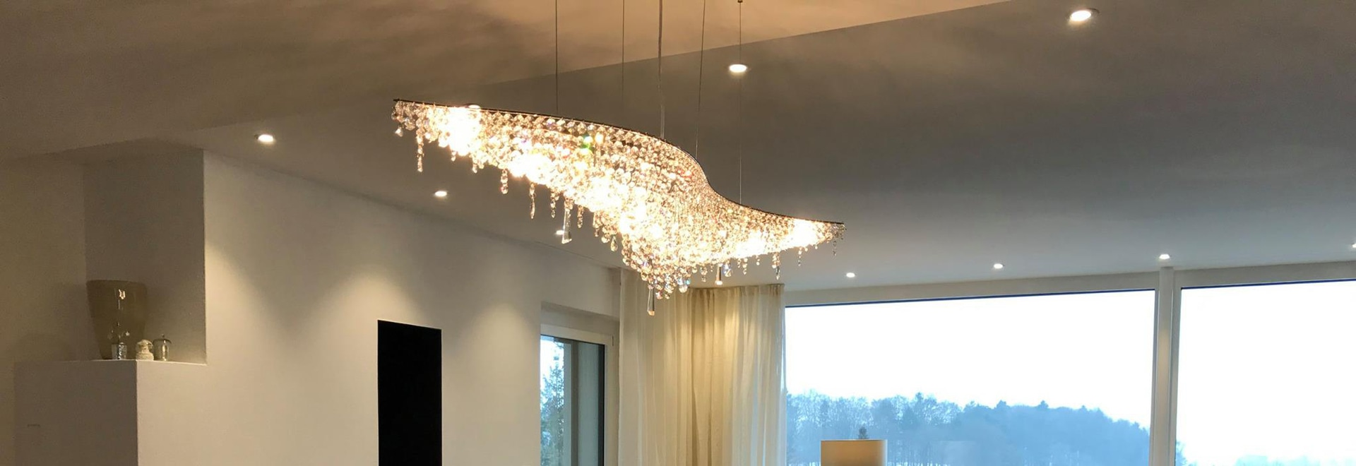 Vague crystal chandelier in a private apartment switzerland manooi vague crystal chandelier in a private apartment mozeypictures Images