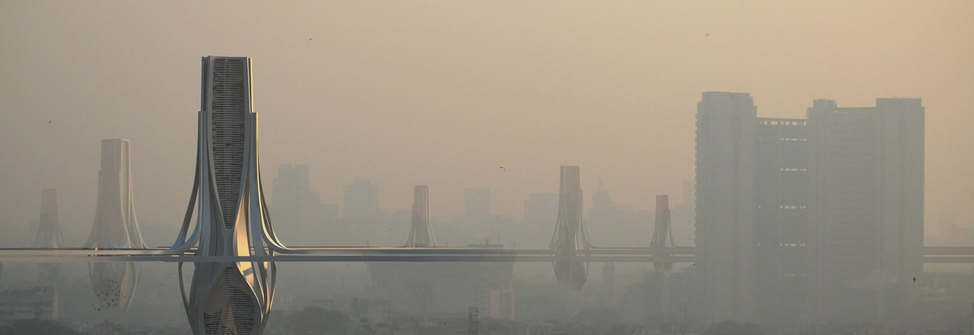 Vast grid of filter towers proposed across Delhi to combat toxic smog