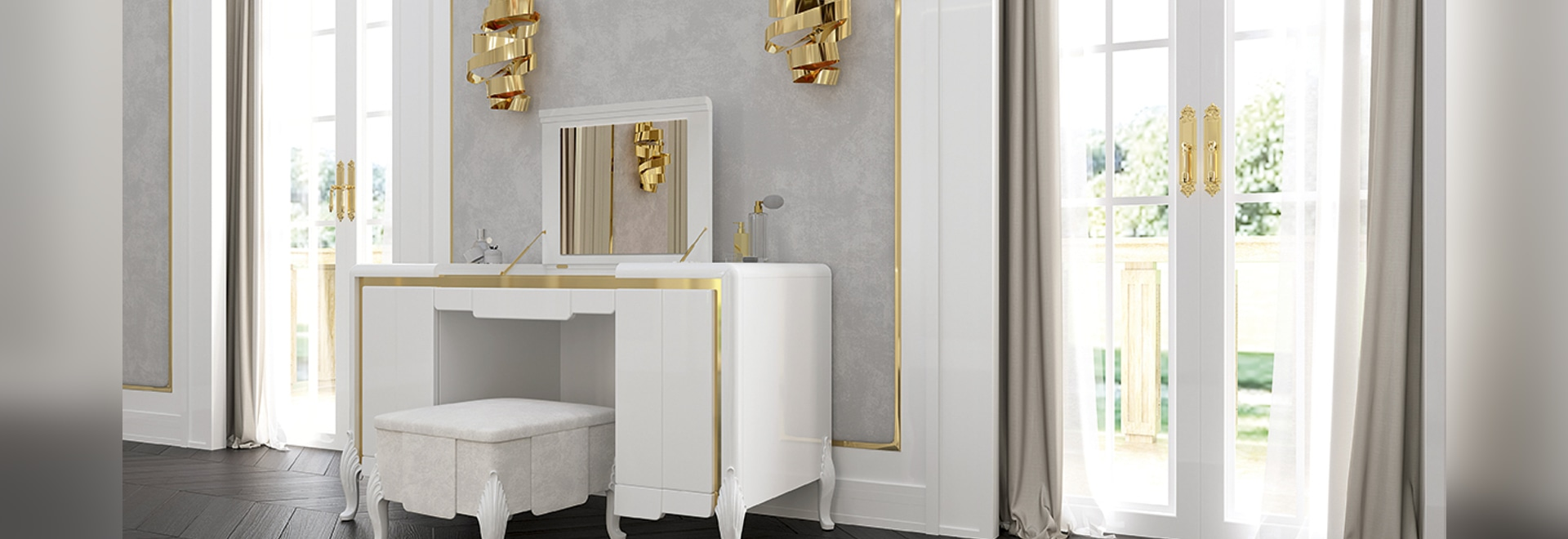 Washington Avenue vanity table,  Ocean collection by Francesco Pasi