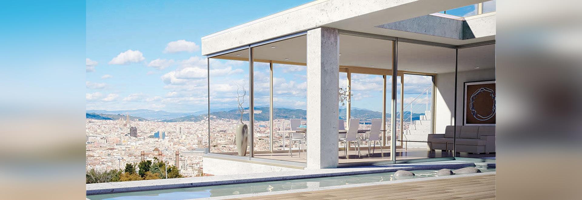 Wood aluminium windows