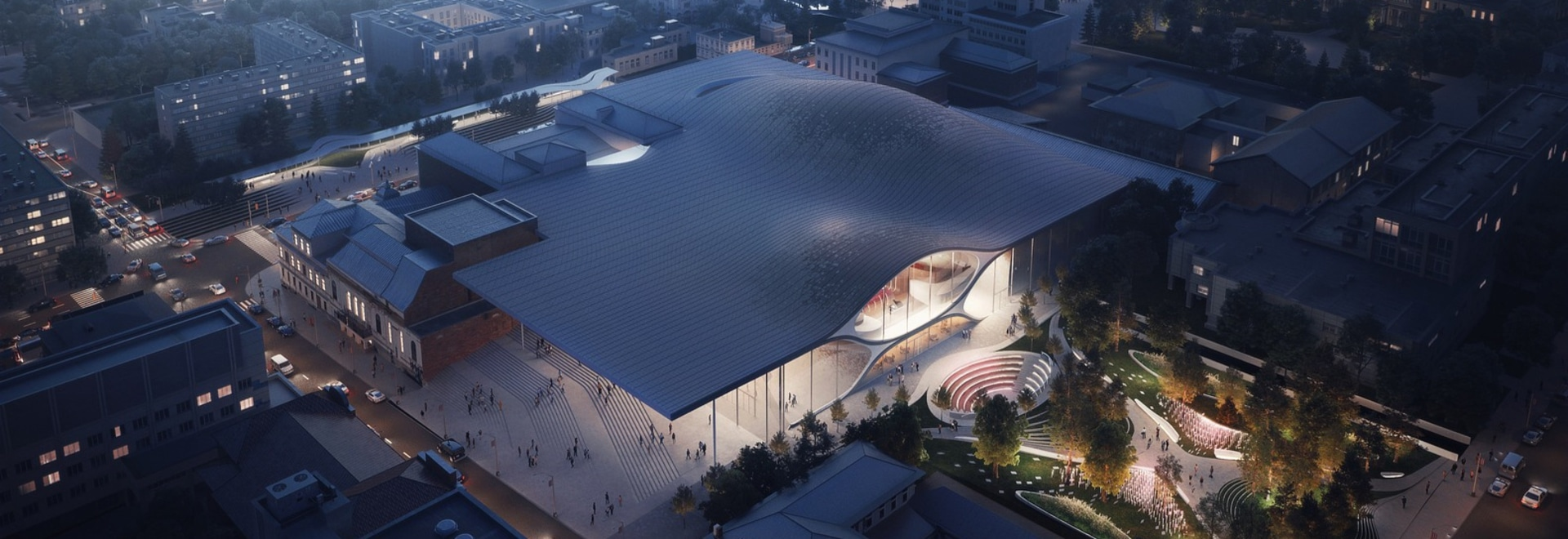 zaha hadid architects to build soundwave-inspired philharmonic concert hall in russia