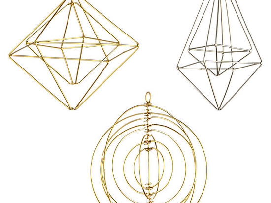 Wire Ornaments from CB2