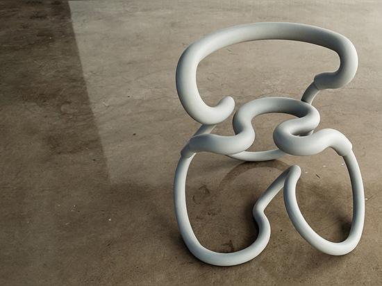 R3, 2015 | 33″ x 28″ x 30″h | steel, silicone foam
