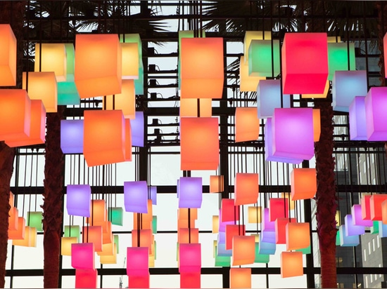 Rockwell Group creates canopy of 650 pulsating lanterns inside New York's Winter Garden