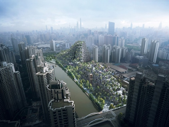 vast shanghai development by heatherwick studio conceived as a piece of urban topography