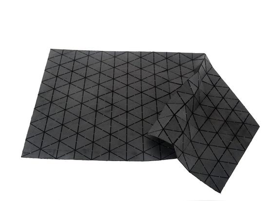 black stone rug, single fold
