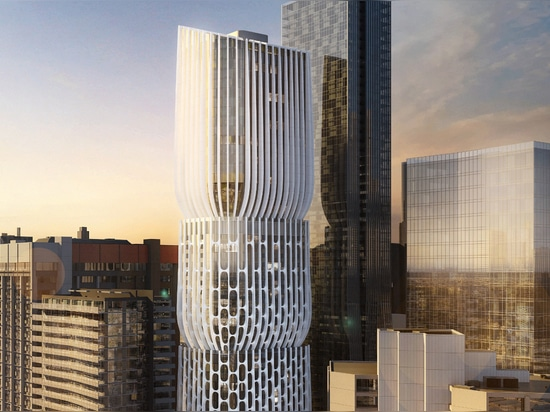 "Zaha Hadid plans Melbourne skyscraper made up of stacked ""vases"""