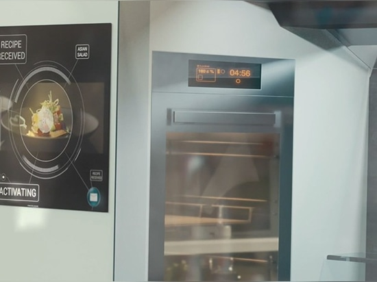 the touch screen offers a library of different recipes