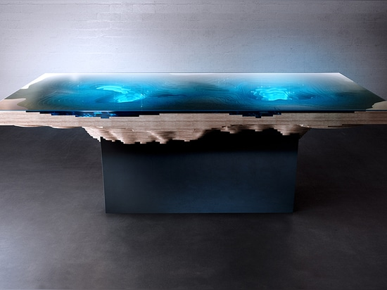 as more layers of glass are added, the materials darken