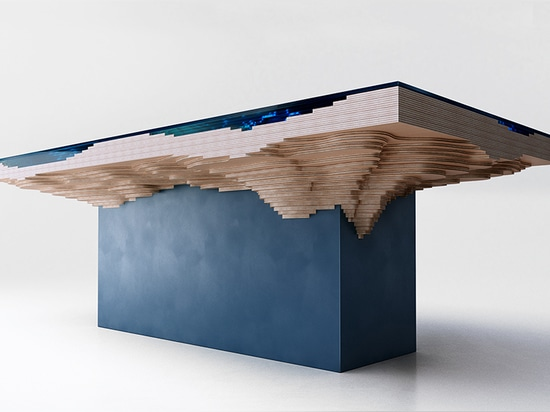 the table is crafted from glass and high grade wood from forest stewardship council managed forests