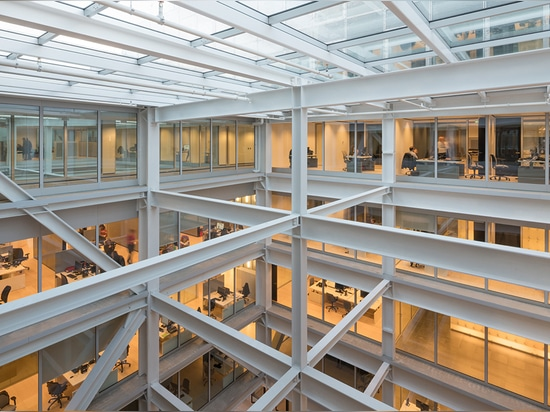 This is also one of The Netherland's most sustainable buildings, using a modular system and recyclable components   Read more at http://www.wallpaper.com/architecture/oma-unveil-timmerhuis-cascadin...