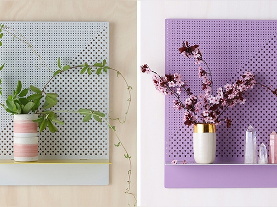 Bride & Wolfe have designed a collection of mesh themed shelves
