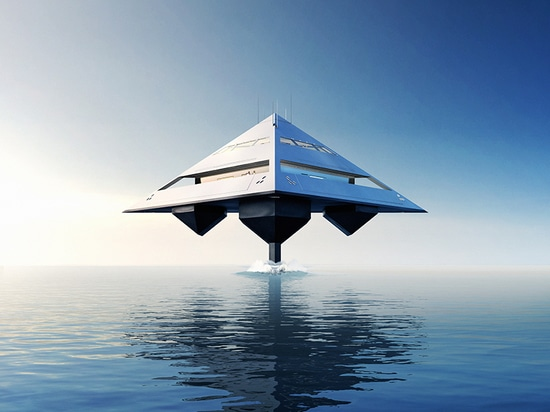 the 'tetrahedron' rethinks the usual structure and propulsion of modern water craft