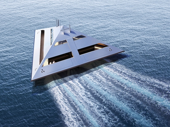 the design is formed by a radically simple sequence of planes, which create an enclosed unit