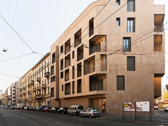 modourbano aligns P17 apartment building with milan's urban fabric