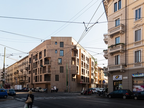 the residential housing complex is located in the italian city of milan