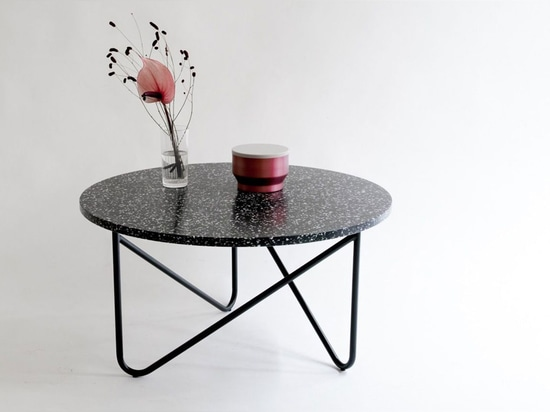 Named 'VVV Table' after the threefold steel tubes (shaped like the letter 'v'), this unit is as playful as it is stable