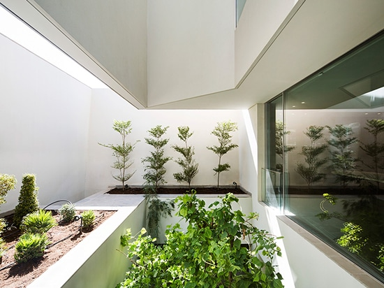 The house boasts many different internal courtyards, rich with foliage, which create green oases across the complex