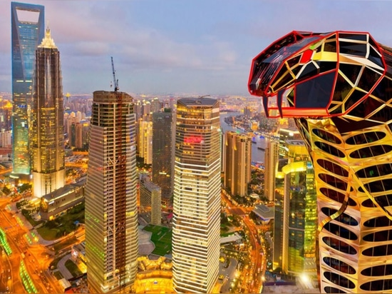 You could eat dinner in the mouth of this insane cobra-shaped skyscraper