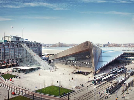 MVRDV to install a giant staircase to celebrate the rebuilding of rotterdam